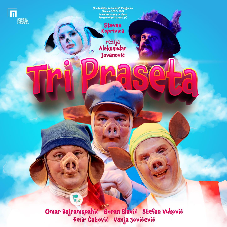 Tri praseta i Maca papučarica na festivalu u Kotoru