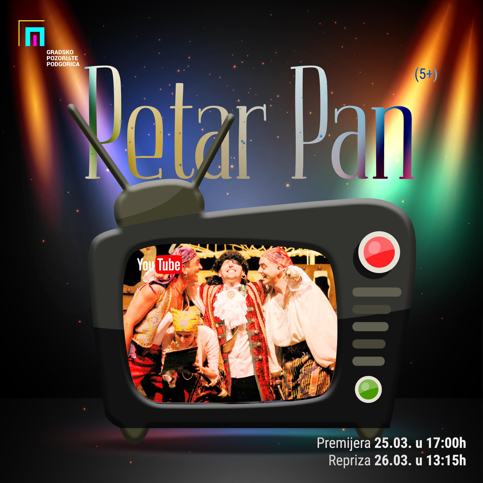 """Predstava ,,Petar Pan"""" (5+) na našem YouTube kanalu"""